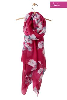Joules Ruby Poppy Woven Wensley Scarf