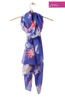 Joules Blue Whitstable Woven Wensley Scarf
