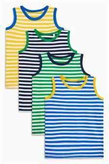 Unterhemden mit Streifen, Viererpack (3 Monate bis 6 Jahre)