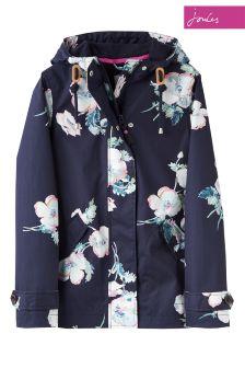 Joules Blue Hooded Coast Print Jacket