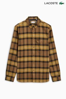 Lacoste® Brown Check Shirt