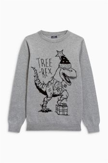 Christmas Tree-Rex Jumper (3-16yrs)