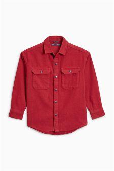 Объемная фактурная рубашка с длинными рукавами (3-16 лет)