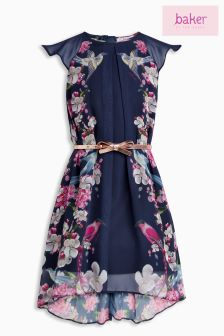 Baker By Ted Baker Navy Floral Print Dress