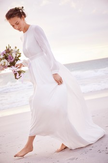 Satijnen bruidsjurk