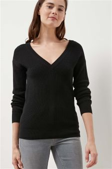 Deluxe Tie Back Sweater
