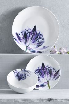 12 Piece Botanical Dinner Set
