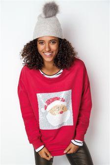 Джемпер с рождественским оленем