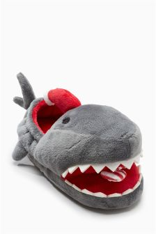 Santa Jaws Slippers (Older Boys)