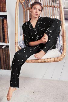 Jersey Button Through Pyjamas