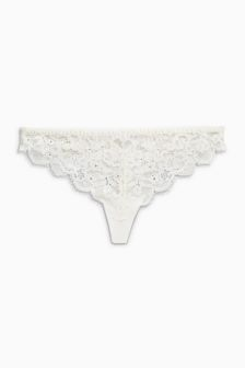Bridal Lace Thong