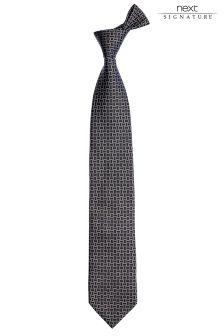 Коллекционный шелковый галстук с рисунком в квадратик