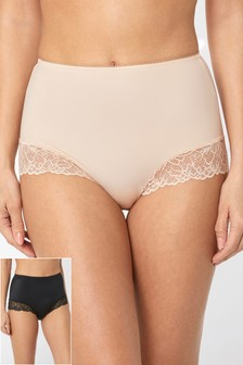 High Waist Lace Briefs Two Pack