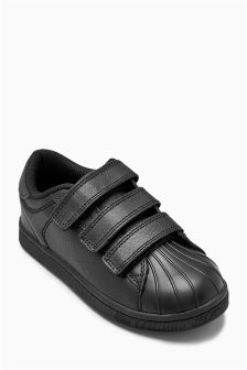 Triple Strap Leather Trainers (Older Boys)