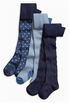 Star And Stripes Tights Three Pack (0mths-6yrs)