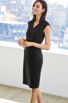 Tailored Cap Sleeve Dress
