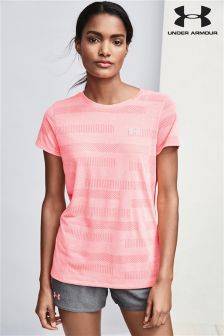 Under Armour Pink Threadborne Jacquard Tee