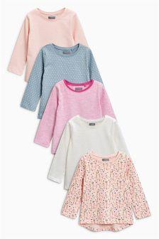 Long Sleeve T-Shirts Five Pack (3mths-6yrs)