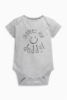 Giggles For Daddy Slogan Short Sleeved Bodysuit (0-18mths)