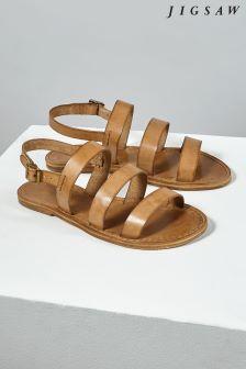 Jigsaw Tan Kea Multi Strap Flat Sandal