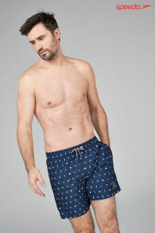 "Speedo® Navy 16"" Polka Dot Watershort"