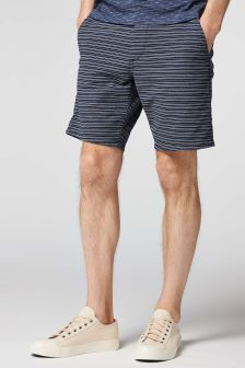 Horizontal Stripe Chino Shorts