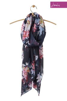 Joules Navy Whitstable Woven Wensley Scarf