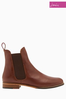 Joules Leopard Print Leather Chelsea Boot