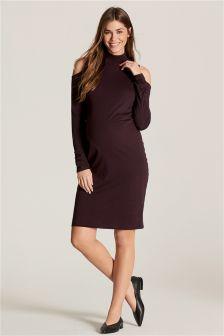 Maternity Cold Shoulder Dress