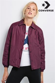 Converse Burgundy Coach Jacket