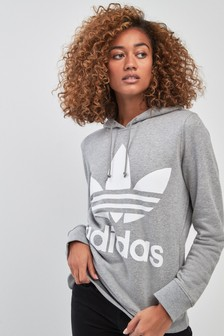 adidas Originals Grey Trefoil Hoody