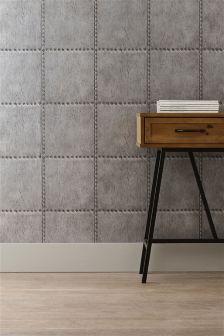 Paste The Wall Metal Rivet Look Wallpaper