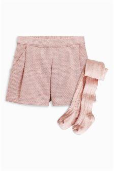 Tweed Shorts And Tights Set (3mths-6yrs)