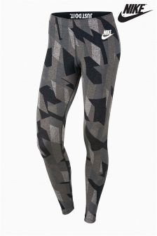 Nike Black/White Skyscraper Legging