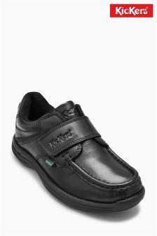 Kickers® Black Reason Strap Shoe