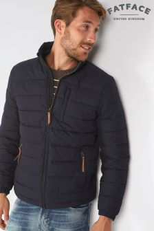 Fat Face Navy Ripstop Puffer Jacket