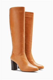 Leather Signature Knee High Boots