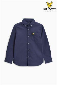 Lyle & Scott White Long Sleeve Oxford Shirt