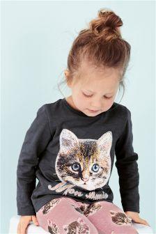 猫咪T恤 (3个月-6岁)