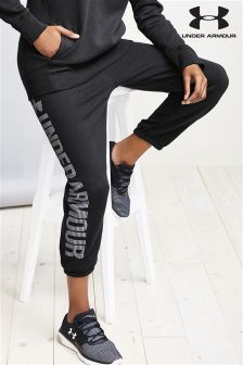 Under Armour Black Favourite Fleece Capri