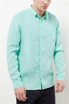 Koszula z długim rękawem z czystego lnu