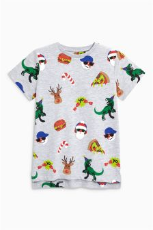 Boys Xmas All-Over-Print T-Shirt (3-16yrs)