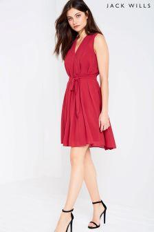 فستان كسرات أحمر من Jack Wills