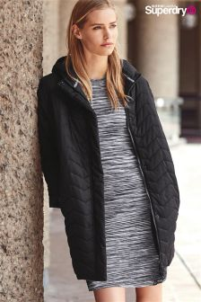 Exclusive To Label Superdry Black Christa Quilt Jacket