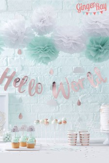 Ginger Ray Gold Hello World Bunting