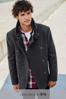 Wool Rich Double Breasted Coat
