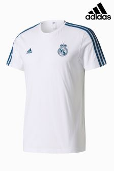 adidas Real Madrid 2017/18 3-Stripe T-Shirt