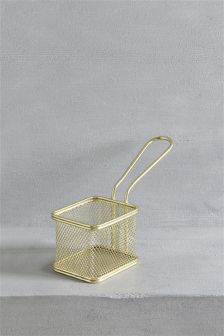 Gold Effect Wire Serve Pan