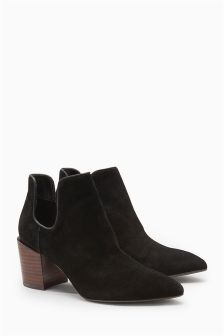 Cut-Out Western Ankle Boots