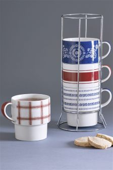 Set of 4 Annelise Stacking Mugs